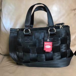 Black large Harveys seatbelt convertible bag